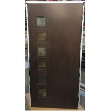 Venkovní vchodové dveře P7 90 Pravé Ořech Tl.-82, Sz-1020, Hz-2080